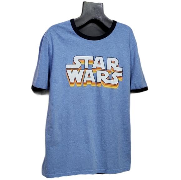 STAR WARS Graphic Ringer Tee 1970s Retro T-shirt